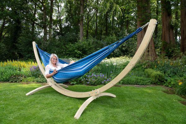 Ställning med Hängmatta 2 Personer Wood & Chill Calm