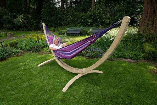 Ställning med Hängmatta 2 Personer Wood & Chill Love