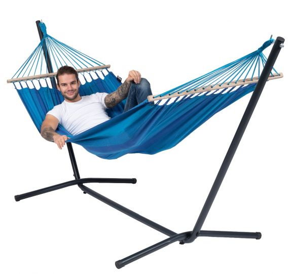 Ställning med Hängmatta 1 Person Easy & Relax Blue