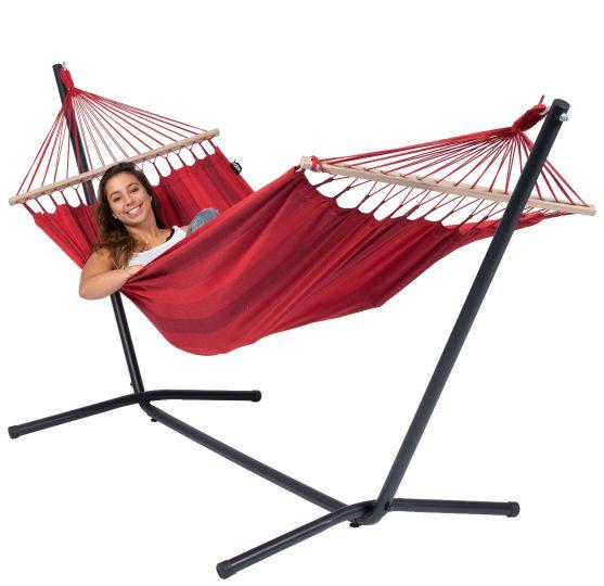 Ställning med Hängmatta 1 Person Easy & Relax Red