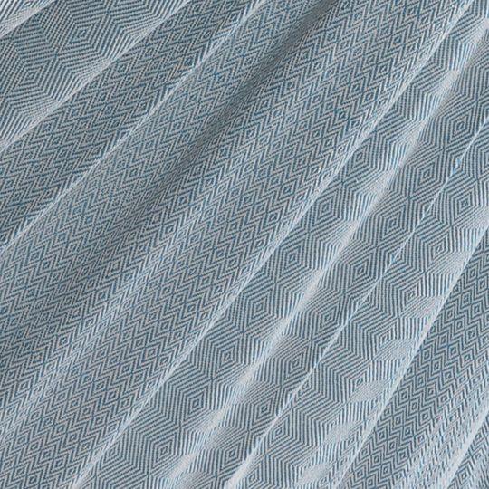 Pläd Natural Blue